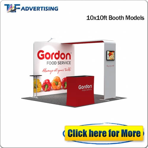 10x10ft standard trade show booth exhibition booth solution