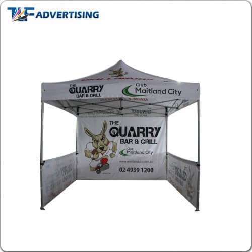 10x10ft(3x3m) Custom Printed Canopy Tent -Feather Flag
