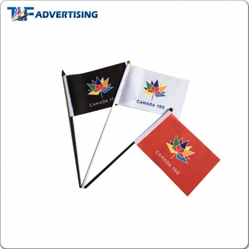 Promotional Hand Flags/Small Hand Wave Flags-Feather Flag