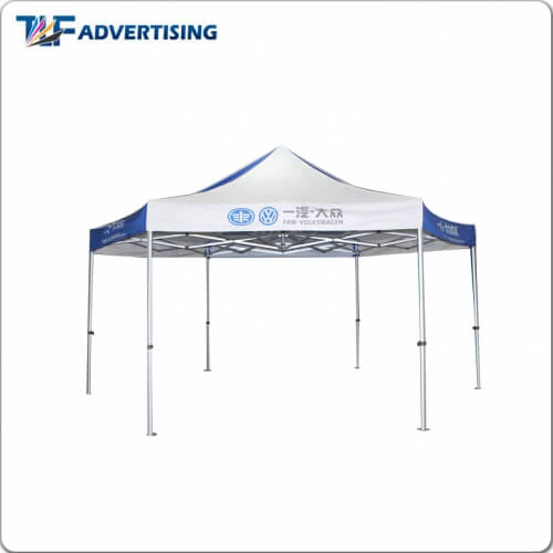 hex shape racing gazebo marquees feather flag manufacturer folding